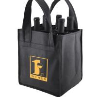Buy cheap Reusable Non Woven Wine Bags Six Bottle Wine Tote For Promotional Gift from wholesalers