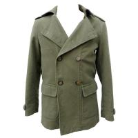 Buy cheap Male Dark Green Microsanded Cotton Coat and Jackets With Military Collar product