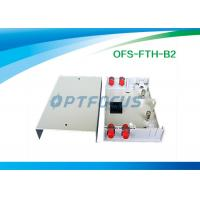 Buy cheap Small ROHS Fiber Termination Box 6 Pigtail LC Plastic Network Termination Box 152x107x31 mm from wholesalers