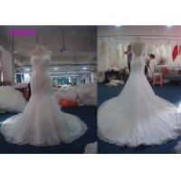 Buy cheap Beading Backless Ivory Mermaid Female Wedding Dress With Floor - Length Hemline from wholesalers