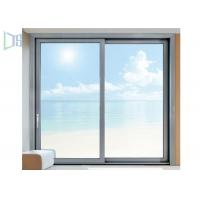 Triple Track Aluminum Sliding Windows Residential Single / Double Glazed Glass