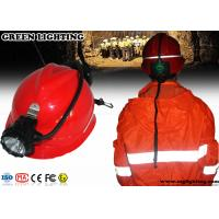 Buy cheap High Power Miners Cap Lamp With Rear Warning Light 15000 Lux Brightness from wholesalers