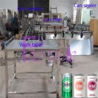 Buy cheap Soft Drink Aluminum Can Filler Machine , Commercial Can Sealing Equipment from wholesalers