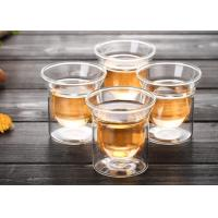 Buy cheap Small Whisky Borosilicate Glass Cup , Bar Double Wall Insulated Glasses from wholesalers