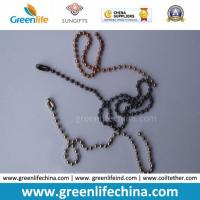 Buy cheap Customized Silver/Gunmetal Black/Rose Gold Bead Ball Jewelry Chain from wholesalers