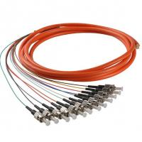 Buy cheap ST/UPC Multimode Fiber Optic Pigtail 62.5/125 Colourful 12 Cores Bundle from wholesalers