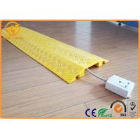 Buy cheap Light Duty Indoor Plastic Floor Cable Cover Cord Protector Yellow / Black from wholesalers