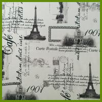 Buy cheap Eiffel Tower or La Tour Eiffel printed designs tablecloth made of 100% polyester woven fabric from Wholesalers