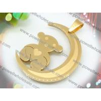 Buy cheap Low MOQ cute gold bear scarf stainless steel cross pendants 2220225-51 with factory price from wholesalers