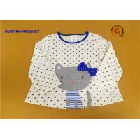 100% Cotton Baby Long Sleeve Tops , Kids Plain T Shirts For Fall / Winter