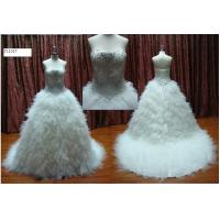 Buy cheap Fashion Ball Gown Strapless Beading Bodice Wedding Dress Silhouettes / Bridal Gown from wholesalers