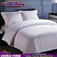 Buy cheap Stripes Design 250TC-330TC Customized Hotel Duvet Cover Bed Sheet Bedding Sets from wholesalers