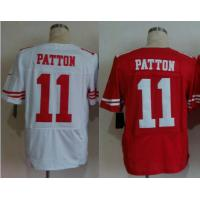 Buy cheap NFL jerseys San Francisco 49ers 11#Patton white&red Elite Jerseys from wholesalers