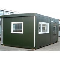 Buy cheap Polystyrene Panel Flat-packed Green Conex Box Homes Used For Office Accommodation hotel from wholesalers