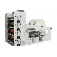 Buy cheap Automatic High Speed 4 Color Flexo Printing Machine 50-60m/min Max width 850mm White from wholesalers