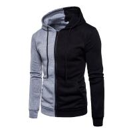 Buy cheap 2018 Autumn Fashion Casual Patchwork Hoodies Men Women Hooded Sweatshirt Slim Fit Pullover Hoody Leisure Zipper Jacket T from wholesalers