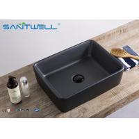 Buy cheap Fashion Ceramic Art Basin Matte Black Bathroom Sink 480*370*130 mm New Style from wholesalers