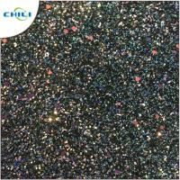 Buy cheap Flat Glitter Polyester Fabric Squares , Glitter Clothing Fabric Canvas Backing from wholesalers