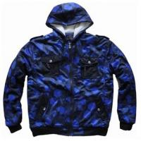 Buy cheap Mens 220g tricot allover printing with shepper lining hooded jacket from wholesalers