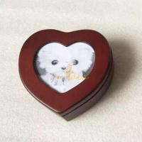 Buy cheap Well Crafted Good Quality Wooden Heart Shaped Pet Memorial Picture Keepsake Urn Box for Pets, Small Order Supported from wholesalers