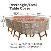 Buy cheap RECTANGLE, PVAL TABLE COVER, LARGE W/UP TO 6 CHAIRS FITS UP TO 108L 85W 23H, SEWING WATERPROOF PE TABLE CHAIR COVER B from wholesalers