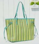Buy cheap Fashion brief gentlewomen portable straw bag woven bag women's pu handbag beach bag from wholesalers