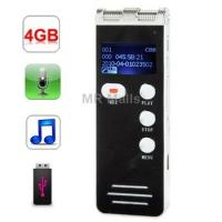 Buy cheap Voice Recorder | 4GB Digital Daul Microphone Voice Recorder from wholesalers