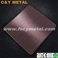 Buy cheap 304 stainless steel sheet rough grinding NO.4+Hairline from wholesalers