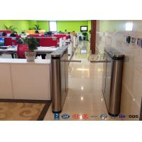 Quality Fingerprint Drop Arm Turnstile , Road Access Control Electronic Barrier Gates for sale
