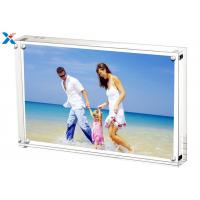 Buy cheap 5*7'' Magnetic Acrylic Photo Frame Silk Screen Printing With Single / Double Sided product