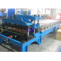 Buy cheap Metal Glazed Tile Roll Forming Machine , Corrugated Roofing Sheet Making Machine product