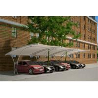 Buy cheap PVDF Tensile Membrane Structure Car Packing Double Car Canopy With Professional Special Design from wholesalers