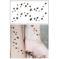 Buy cheap Flash Metallic Body Art Temporary Tattoos Stickers Waterproof Non Permanent from wholesalers
