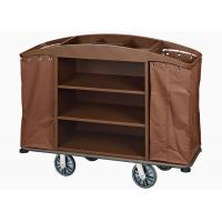 Buy cheap Brown Hotel Room Service Trolleys with 6 Inches PPR Casters Heavy Duty Linen Bags from wholesalers