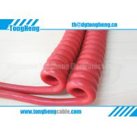 Buy cheap Red Colour TPU Sheathed Customized Equipment Curly Cord Cable from wholesalers
