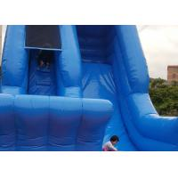 China Standard Safety Big Blow Up Water Slide 0.55mm PVC Material Customize Size on sale