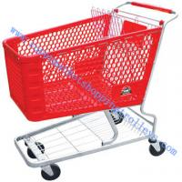 "Buy cheap 165L Plastic Supermarket Shopping Cart 5"" Unfloding , Steel Tubes from wholesalers"