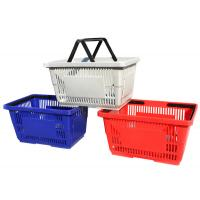 Buy cheap Multi Colors Supermarket Shopping Baskets / Plastic Shopping Baskets With Hand from wholesalers