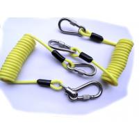 Buy cheap 5.0mm Yellow PU Safety Tool Lanyards with Double Stainless Hooks from wholesalers