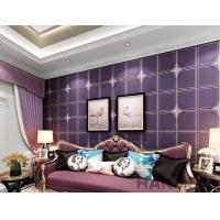 Buy cheap Purple Color Suede Wallpaper Geometric Design Sofa Backgroung Chinese Factory Supplier from wholesalers