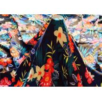 Buy cheap 85 Gsm Printed Chiffon Fabric 150 Cm , 50D*50D Floral Chiffon Fabric Customized from wholesalers