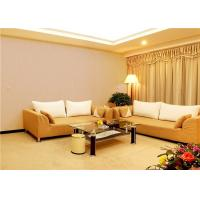Buy cheap White / Beige Strippable PVC Vinyl Wallpaper Home Decor Wall Covering 297g/㎡ product