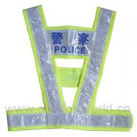 Buy cheap Promotion Colorful Traffic Belt Reflective Safety Vests For Police , Green Color product