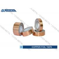 Buy cheap EMI / RFI Shielding Conductive Copper Foil Tape Roll 0.05mm - 0.009mm from wholesalers