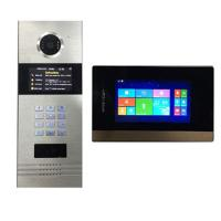 Buy cheap 7 inch TFT LCD Screen Touch Keypad Metal TCP/IP video doorphone intercom for building multi-apartments from wholesalers