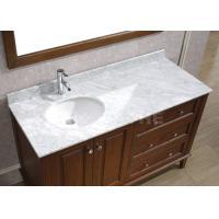 Galaxy White Bathroom Vanity Countertops With Sink Marble Left Side Sink Vanity Top