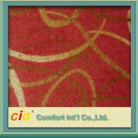 Buy cheap Eco-friendly Polyester Carpet Fabrics / Exhibition Carpet Cloth for Hotel or Car Upholstery from wholesalers