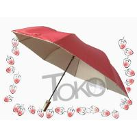 2 Section Easy Auto Open And Close UmbrellaSilver Coating Fabric /  Sleeve