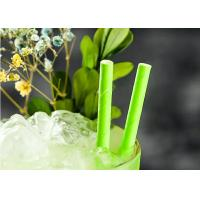 Buy cheap Eco Friendly bamboo paper straws Birch Wood Design Green Decorative Paper Straws from wholesalers