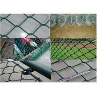 Buy cheap Q195 Portable 2.5mm Thicks Chain Link Fence 2x2 Colored Galvanized PVC Coated Diamond product